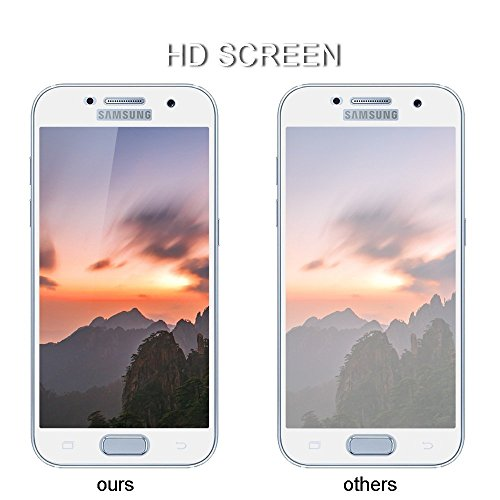 Tempered Glass for Samsung A3 (2017) White