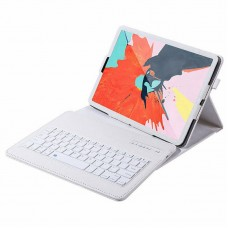 "For Apple iPad Pro 12.9"" 2020 4th Gen Keyboard Bluetooth Smart PU Leather Case White"