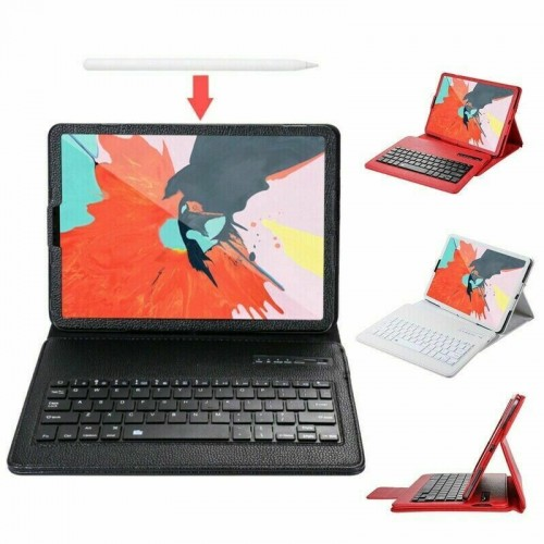"For Apple iPad Pro 12.9"" 2020 4th Gen Keyboard Bluetooth Smart PU Leather Case Black"