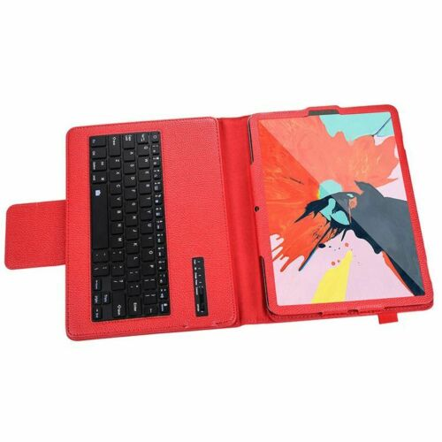 """For Apple iPad Pro 12.9"""" 2020 4th Gen Keyboard Bluetooth Smart PU Leather Case Red"""
