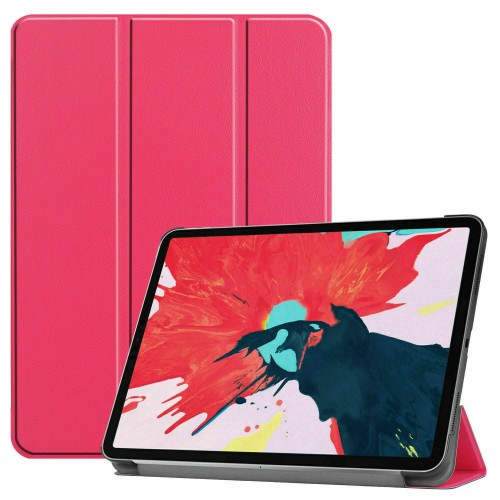 Premium Smart Book Stand Cover For Apple iPad Pro 11 (2020) Rose Red