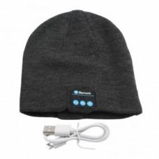 Bluetooth Smart Warm Beanie Hat with Music Headphones Speaker Dark Grey