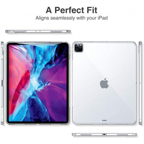 Clear TPU Silicone Cover Case For iPad Pro 12.9'' (2020)