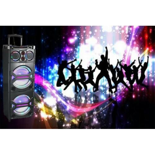 Portable Bluetooth Wireless Speaker LED Light Home Karaoke Party Sound System