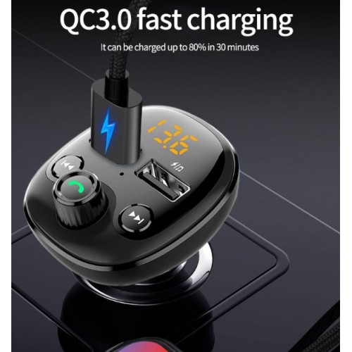 BT21 Q QC 3.0 charger Car Bluetooth Hands Free MP3 Player/Phone to Radio FM Transmitter