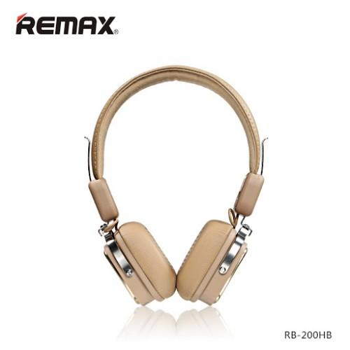 REMAX RB-200HB Wireless Bluetooth4.1 Headphone Khaki