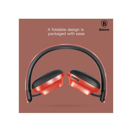 Baseus Headphone Bluetooth Encok D01 Wireless Red