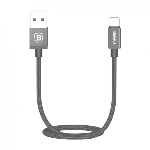 Baseus Strong Braided Lightning USB Cable MFi Certified for iPhone 8 X XR XS Max 1m Dark Grey