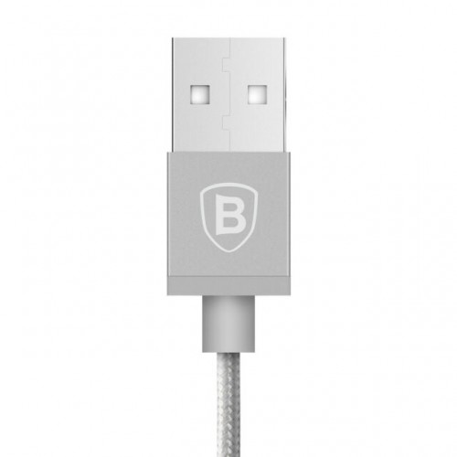 Baseus Strong Braided Lightning USB Cable MFi Certified for iPhone 8 X XR XS Max 1m Silver