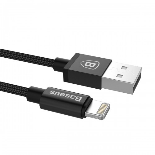 Baseus Strong Braided USB Fast Lighting Charging Cable for iPad iPhone 12 11 Pro Max X XR 1.8m Black