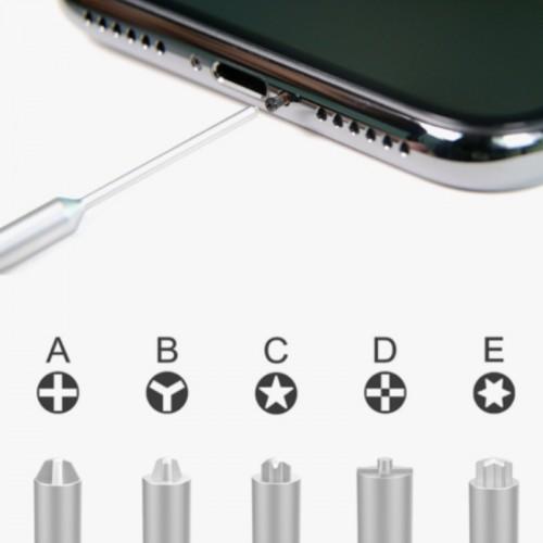 XL-655 3D Non-slip Hollow Cross Tip Middle Bezel 2.5 Screwdriver