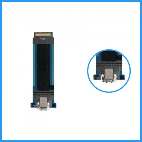 For iPad Pro 12.9'' 2017 Charging Port Dock Connector Flex Cable Replacement White