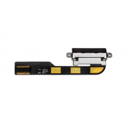 For iPad 2 Charging Port Dock Connector Flex Cable Replacement Black