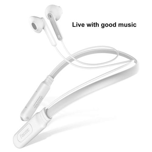 Baseus Encok Neck Hung Bluetooth Earphone S16  White