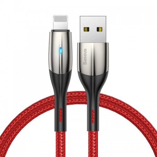 Baseus Horizontal Data Cable(With An Indicator Lamp)USB For iP 1.5A 2m Red