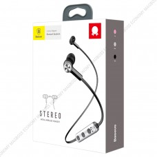 Baseus Licolor Magnet Bluetooth Earphone Silver Black