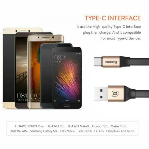 Baseus Nimble Portable Cable For Type-C 2A 1.2M Gold Black