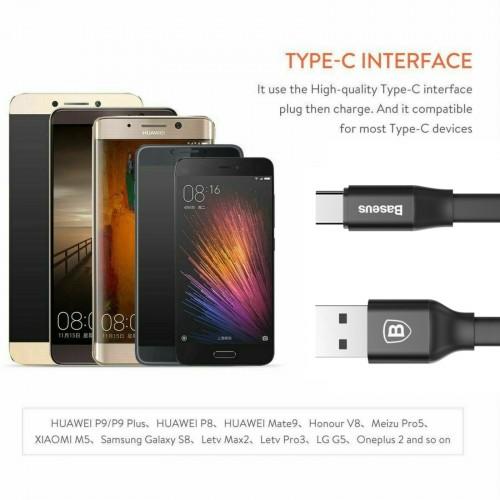 Baseus Nimble Portable Cable For Type-C 2A 1.2M Black