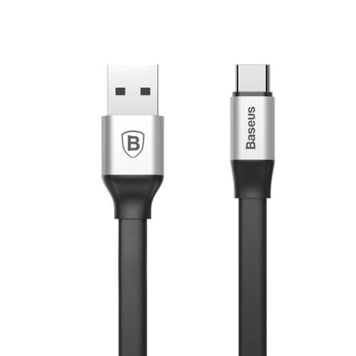 Baseus Nimble Portable Cable For Type-C 2A 1.2M Silver Black