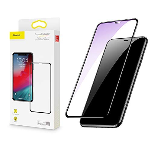 Baseus Full coverage curved tempered glass protector with anti-blue light function For iP XR 6.1inch Black