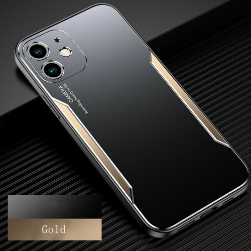 Blade series Metal Case For iPhone 12 Mini 5.4 Black Gold