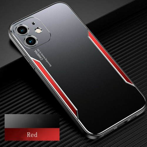 Blade series Metal Case For iPhone 12 6.1 Black Red