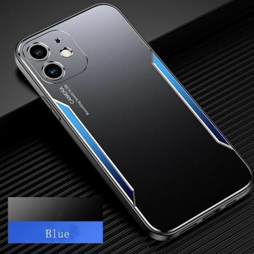 Blade series Metal Case For iPhone 12 6.1 Black Blue