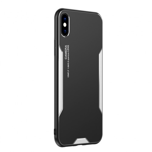Blade series Metal Case For iPhone 11 Black Silver