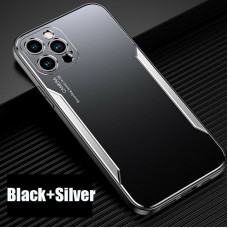 Blade series Metal Case For iPhone 12 Pro 6.1 Black Silver