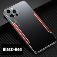 Blade series Metal Case For iPhone 12 Pro 6.1 Black Red