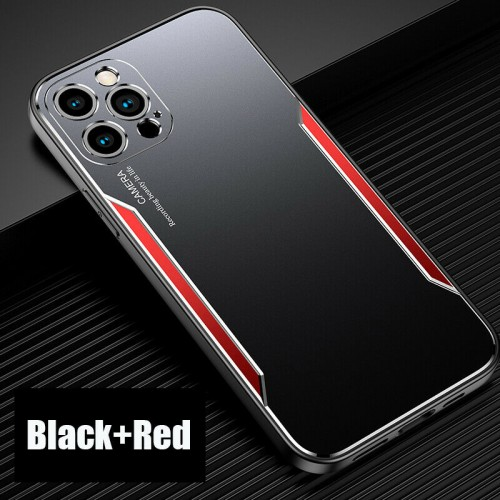 Blade series Metal Case For iPhone 11 Pro Max Black Red
