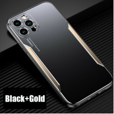 Blade series Metal Case For iPhone 12 Pro 6.1 Black Gold