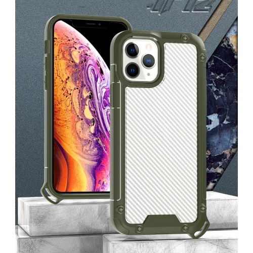 Golden Shield Series Case For iPhone 12/12 Pro 6.1 Green