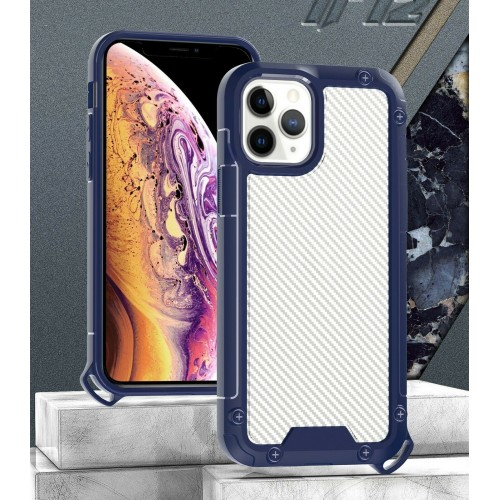 Golden Shield Series Case For iPhone 12 Pro Max 6.7 Blue