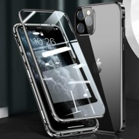 Magnetic Adsorption Metal Front & Back Case For iPhone 12 Mini 5.4 Black