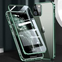 Magnetic Adsorption Metal Front & Back Case For iPhone 12 Mini 5.4 Green
