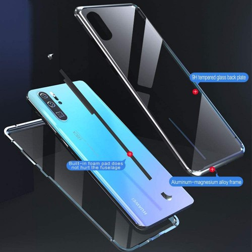 Magnetic Adsorption Metal Front & Back Case For P30 Pro Red