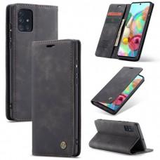Caseme-013 Magnetic Card Case For Samsung A71 Black