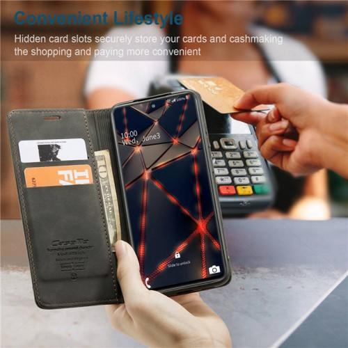Caseme-013 Magnetic Card Case For Samsung S20 FE Black