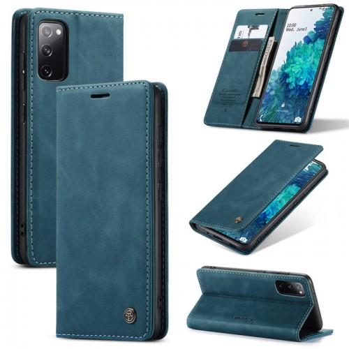 Caseme-013 Magnetic Card Case For Samsung S20 FE Blue