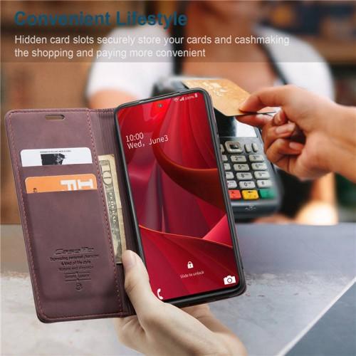 Caseme-013 Magnetic Card Case For Samsung S20 FE Red