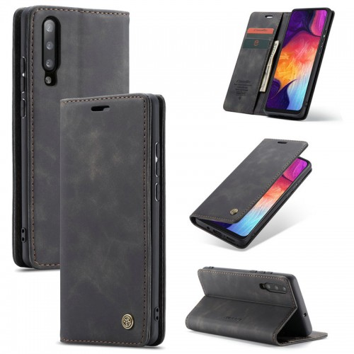 Caseme-013 Magnetic Card Case For Samsung A20S Black