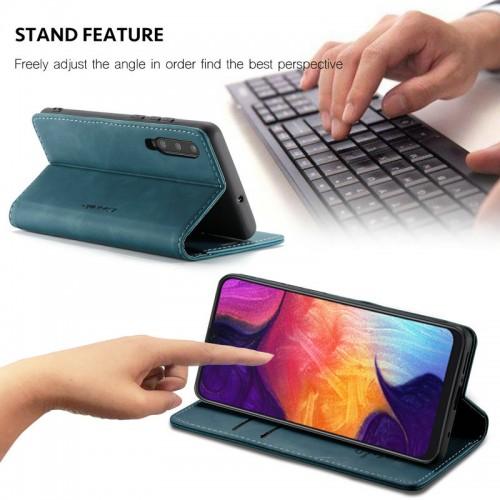 Caseme-013 Magnetic Card Case For Samsung A20S Blue