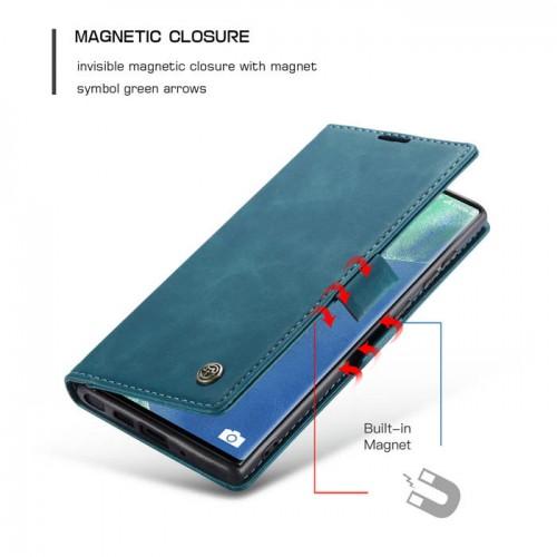 Caseme-013 Magnetic Card Case For Samsung Note 20 Ultra Blue