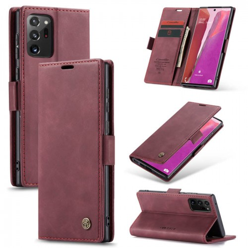 Caseme-013 Magnetic Card Case For Samsung Note 20 Ultra Red