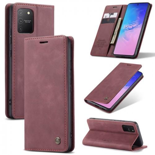 Caseme-013 Magnetic Card Case For Samsung S10 Lite Red