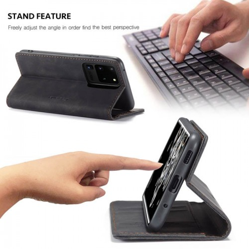 Caseme-013 Magnetic Card Case For Samsung S20 Ultra Black