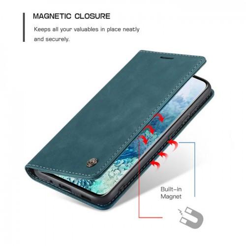 Caseme-013 Magnetic Card Case For Samsung S20 Plus Blue