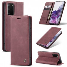 Caseme-013 Magnetic Card Case For Samsung S20 Plus Red