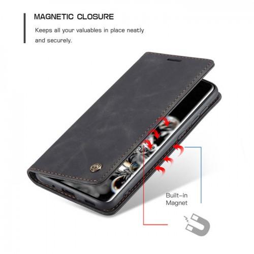 Caseme-013 Magnetic Card Case For Samsung S20 Black